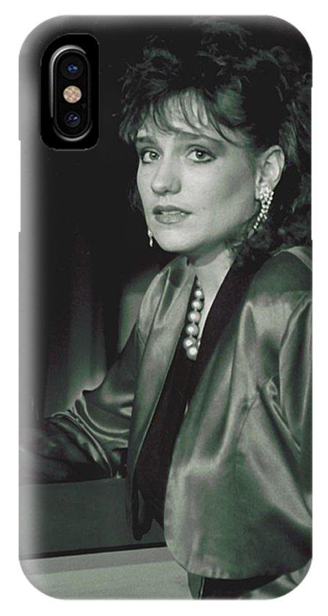 Portrait IPhone X Case featuring the photograph 092508-3  Cheri by Mike Davis