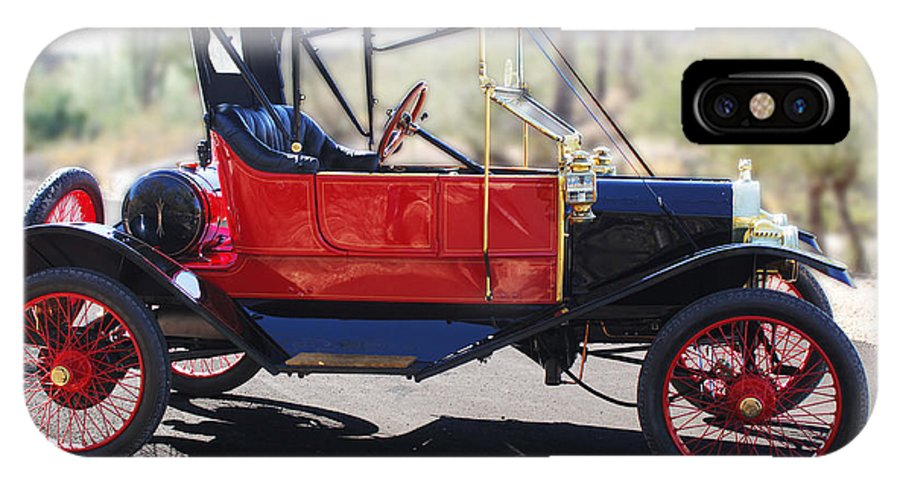 Horseless Carriage IPhone X Case featuring the photograph 1911 Ford Model T Torpedo by Jill Reger