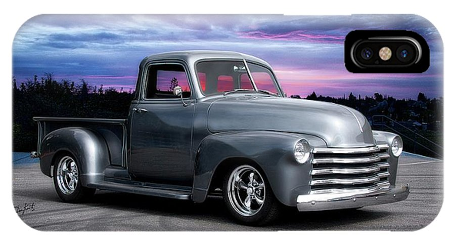 Auto IPhone X Case featuring the photograph 1953 Chevrolet 3100 Custom Pickup by Dave Koontz