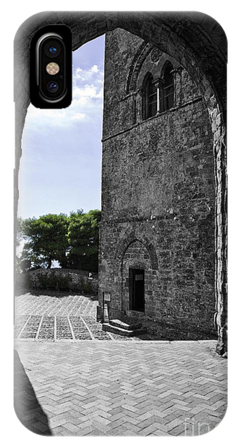 Arch IPhone X Case featuring the photograph A Gothic View by Madeline Ellis