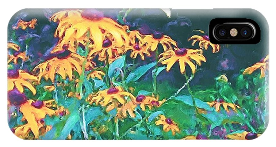 Mixed Media IPhone X Case featuring the painting A Lily In The Field by Patricia Griffin Brett