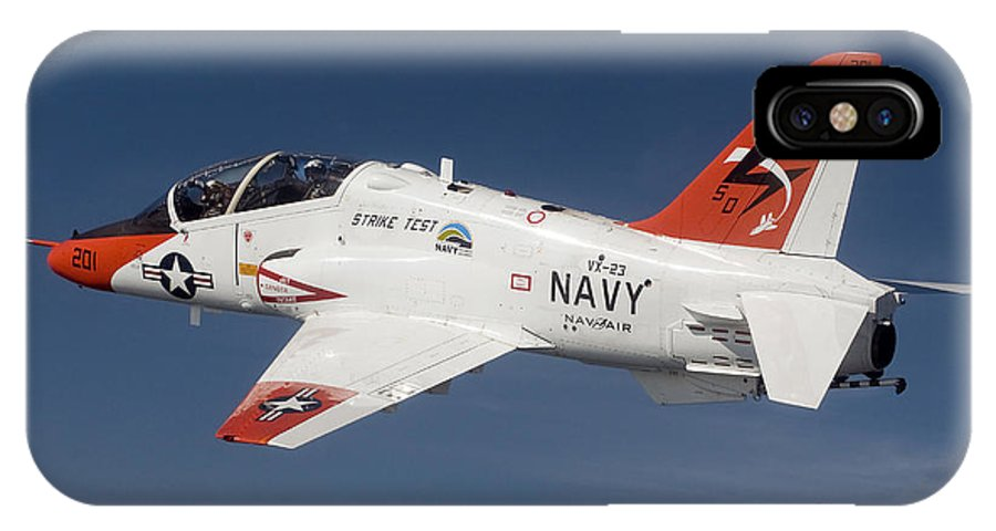Test IPhone X Case featuring the photograph A T-45c Goshawk Training Aircraft by Stocktrek Images