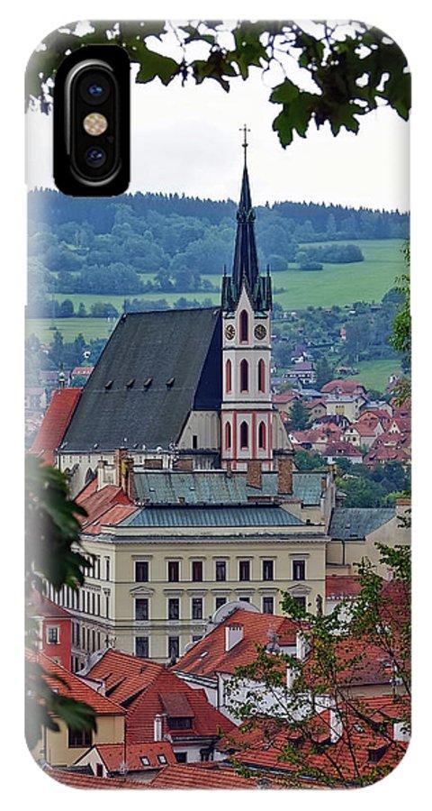 Cesky Krumlov IPhone X Case featuring the photograph A View Of Cesky Krumlov In The Czech Republic by Richard Rosenshein