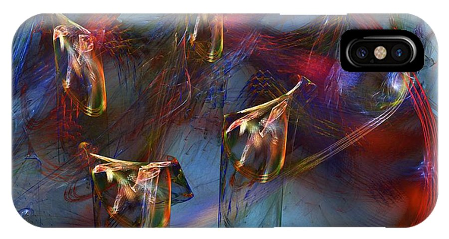 Fine Art Digital Art IPhone X Case featuring the digital art Abstract 102910 by David Lane