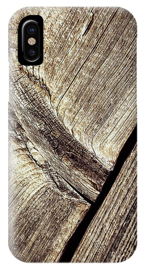 Old IPhone X Case featuring the photograph Abstract Detail Of A Wooden Old Board by Jozef Jankola