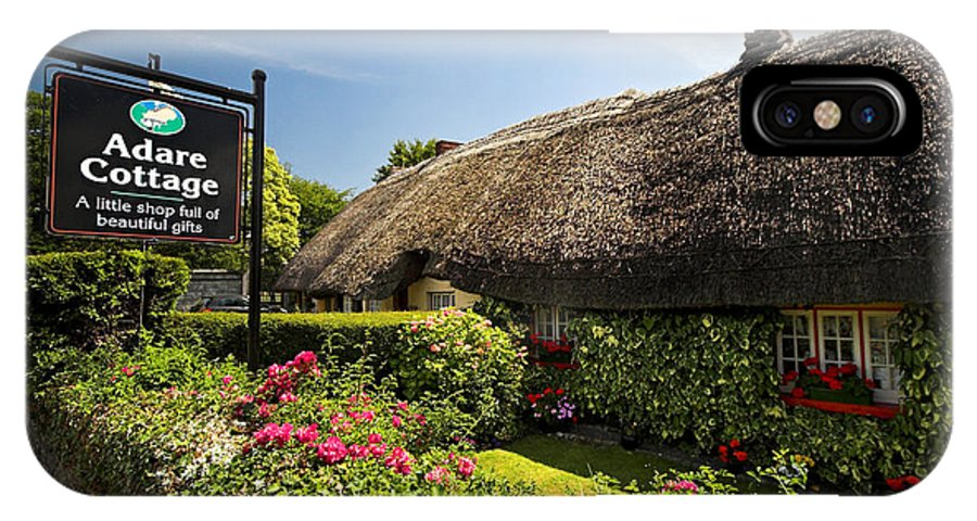 Adare IPhone X Case featuring the photograph Adare Thatch Roof Cottages Ireland by Pierre Leclerc Photography