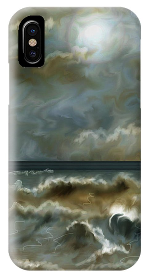 Seascape IPhone X Case featuring the painting After The Squall by Anne Norskog