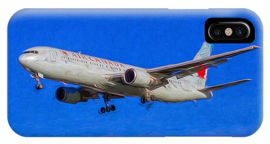 Air Canada Art IPhone X Case featuring the photograph Air Canada Boeing 767 Art by David Pyatt