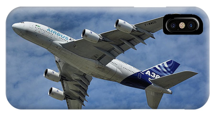 Airbus IPhone X Case featuring the photograph Airbus A380 by Tim Beach