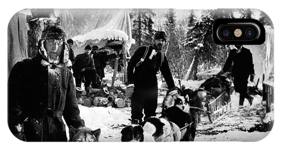 1900 IPhone X Case featuring the photograph ALASKAN DOG SLED, c1900 by Granger