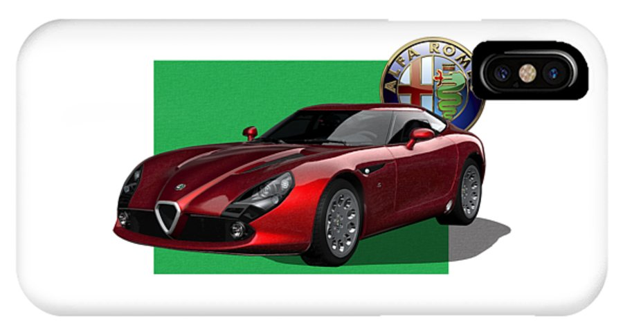 �alfa Romeo� By Serge Averbukh IPhone X Case featuring the photograph Alfa Romeo Zagato T Z 3 Stradale With 3 D Badge by Serge Averbukh
