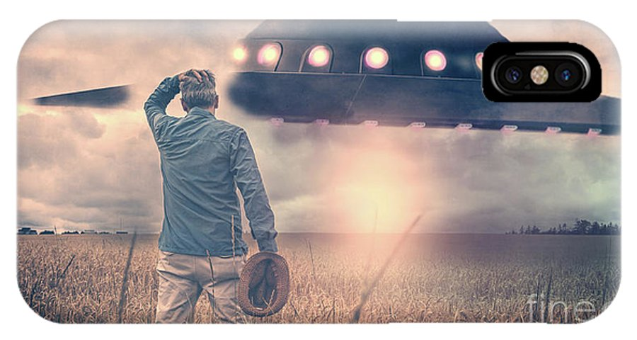 Alien IPhone X Case featuring the photograph Alien Encounter by Edward Fielding