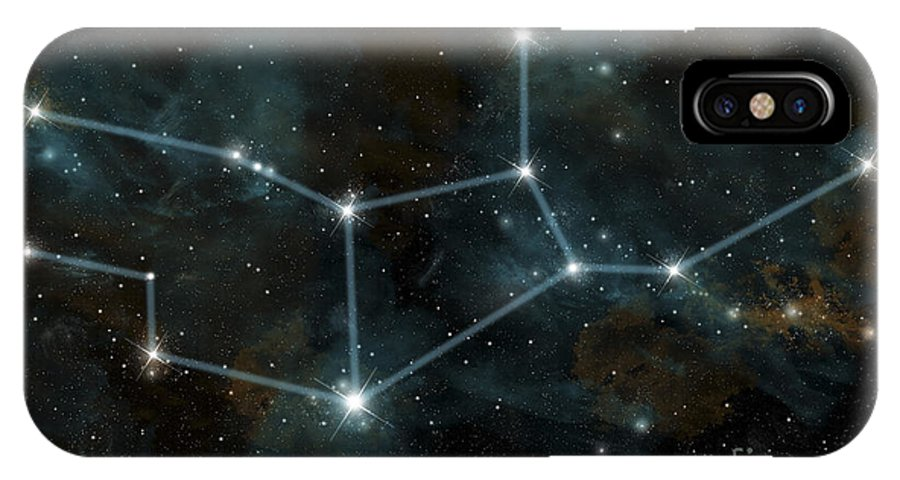 Astrology IPhone X Case featuring the digital art An Artists Depiction by Marc Ward