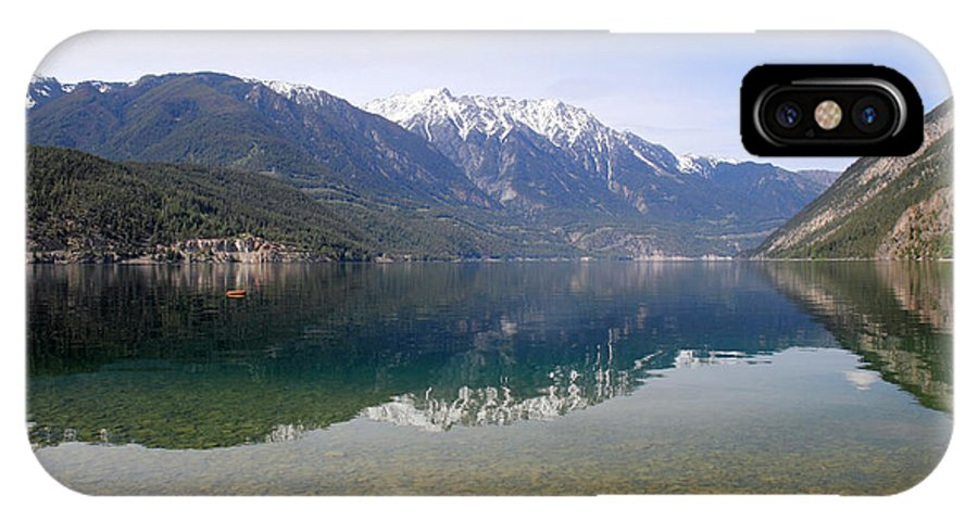 Anderson IPhone X Case featuring the photograph Anderson Lake Reflection by Pierre Leclerc Photography
