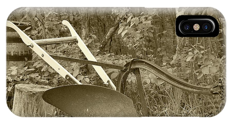 Plow IPhone X Case featuring the photograph Antique One Share Plow by Robert Hamm
