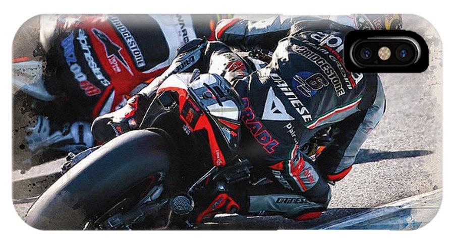 Formula 1 IPhone X Case featuring the digital art Aprilia Racing Team Gresini by Don Kuing