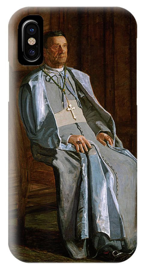 America IPhone X Case featuring the painting Archbishop Diomede Falconio by Thomas Eakins