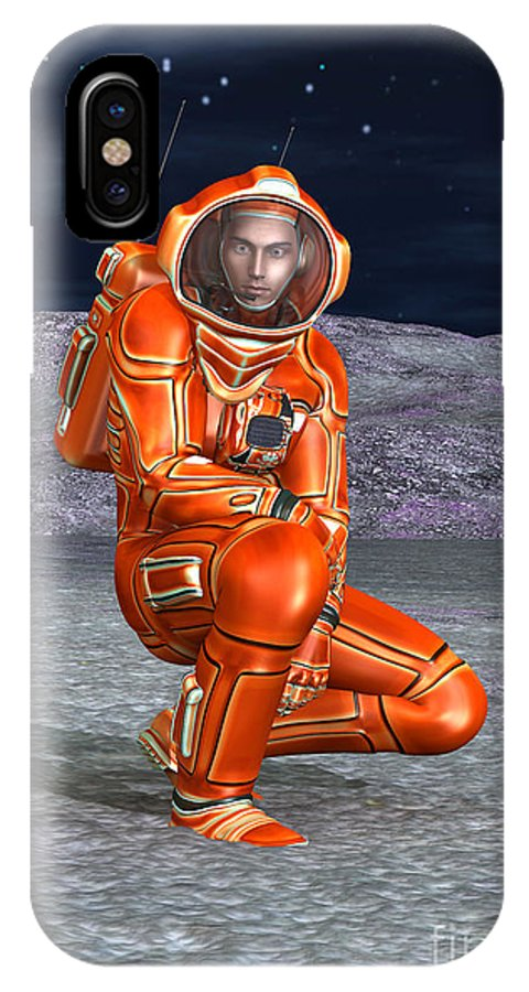 Man IPhone X / XS Case featuring the digital art Astronaut by Design Windmill