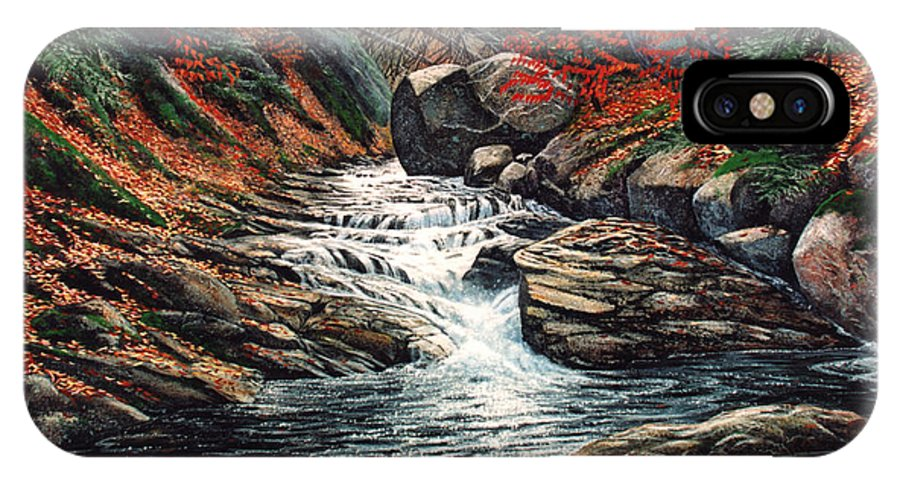 Landscape IPhone Case featuring the painting Autumn Brook by Frank Wilson