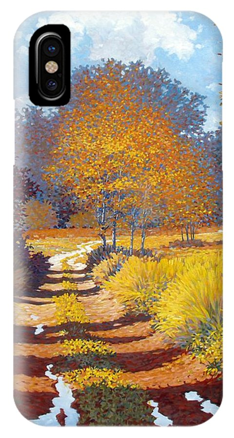 Landscape IPhone Case featuring the painting Autumn by Kevin Lawrence Leveque