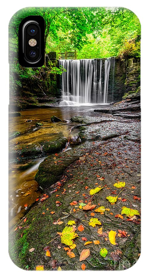 Waterfall IPhone X Case featuring the photograph Autumn Leaves by Adrian Evans