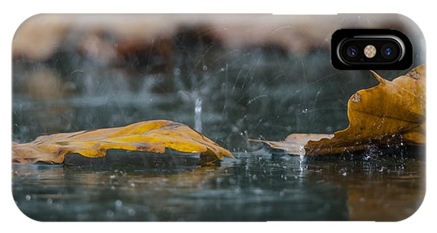 Autumn IPhone X / XS Case featuring the photograph Autumn Rain by Shay Weiss