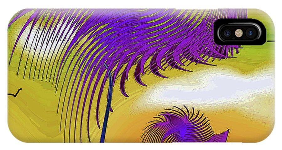 Drawing IPhone X Case featuring the digital art Autumn Spirit by Iris Gelbart