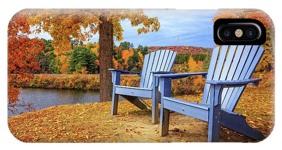 Norwich IPhone X Case featuring the photograph Autumn Splendor by Edward Fielding