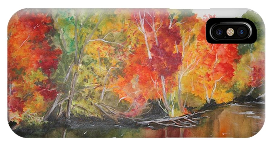 Autumn IPhone X Case featuring the painting Autumn Splendor by Jean Blackmer