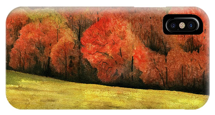 Autumn IPhone Case featuring the painting Autumn Splendor by Mary Tuomi