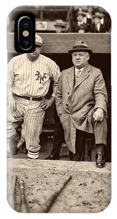 Babe Ruth IPhone X / XS Case featuring the photograph Babe Ruth And John Mcgraw by Mountain Dreams