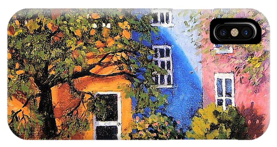 Scenic IPhone X Case featuring the painting Backyard by Jonathan Carter