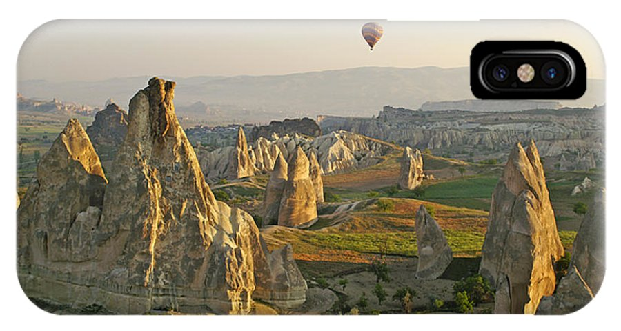 Turkey IPhone X Case featuring the photograph Ballooning In Cappadocia by Michele Burgess