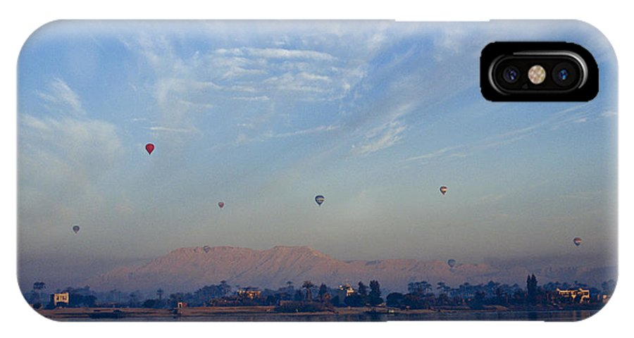 Egypt IPhone X Case featuring the photograph Ballooning Over The Nile by Michele Burgess