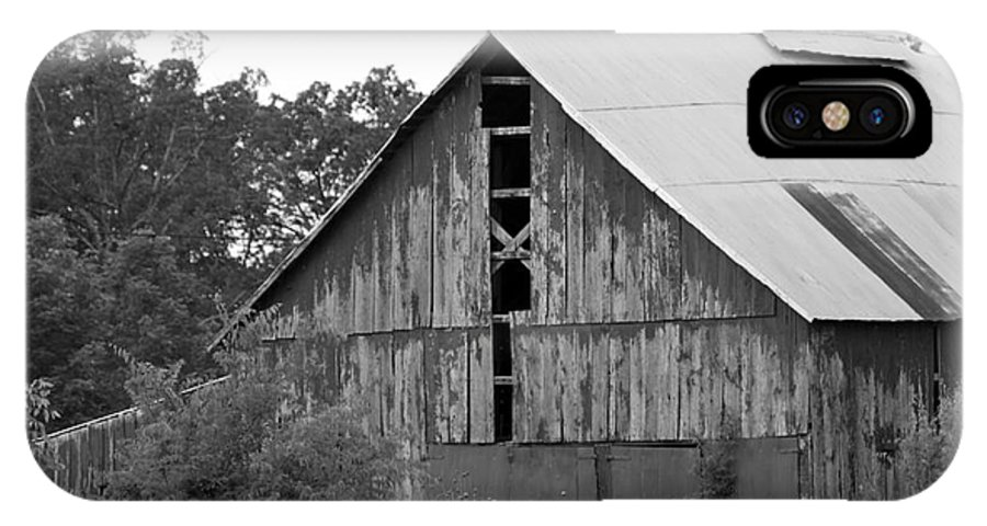 Monochrome IPhone X Case featuring the photograph Barn In Kentucky No 70 by Dwight Cook