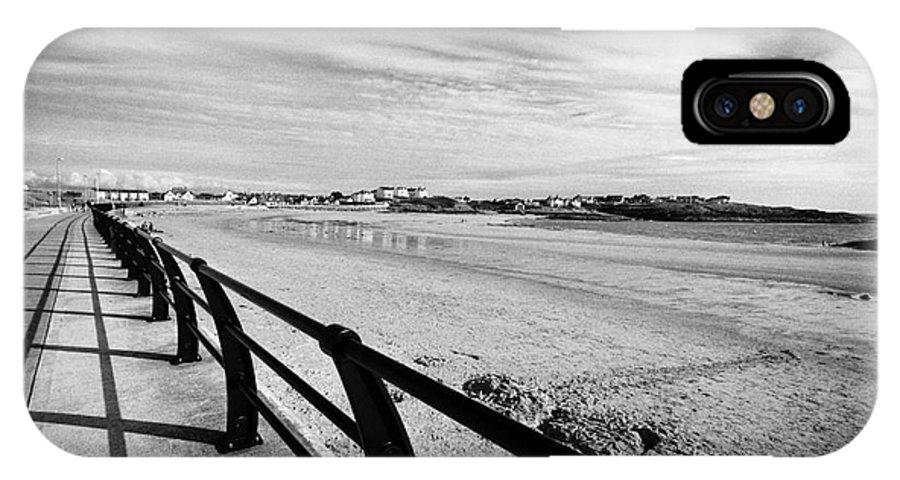 Treaddur IPhone X / XS Case featuring the photograph Beach At Trearddur Bay Anglesey North Wales Uk by Joe Fox