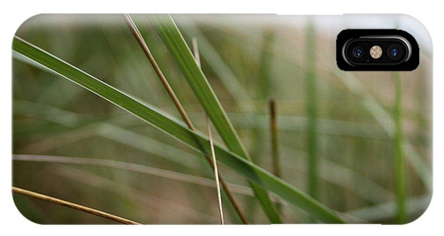 Grass IPhone X Case featuring the photograph Beach Grass by Laura Kinker
