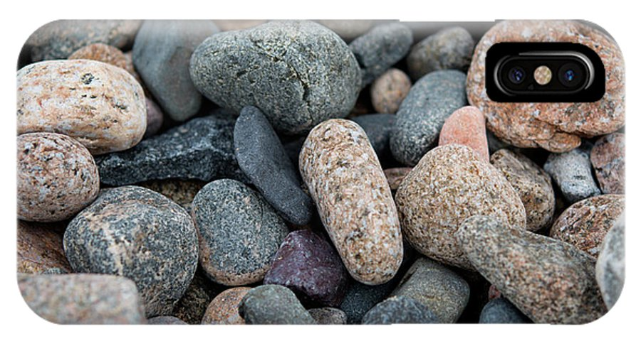 Stone IPhone X Case featuring the photograph Beach Of Stones by Michelle Himes
