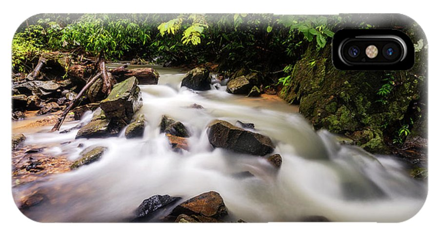 Stream IPhone X Case featuring the photograph Beautiful Stream In Western Ghats by Vishwanath Bhat