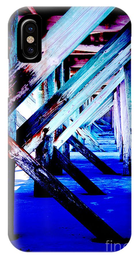 Dock IPhone X Case featuring the photograph Beneath The Docks by Jamie Lynn