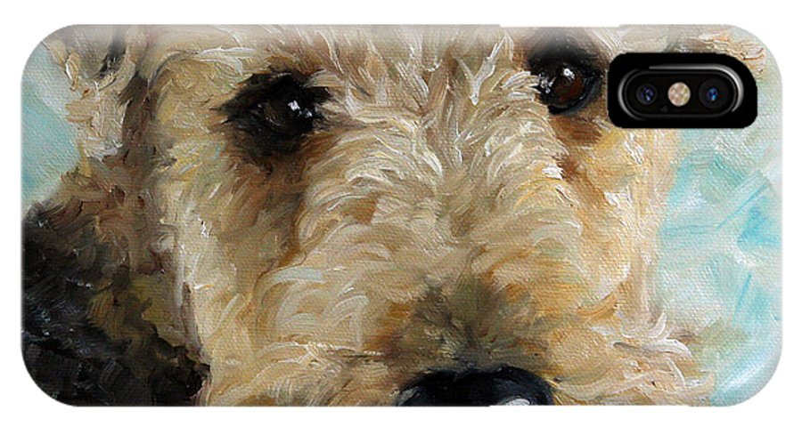 Art IPhone X Case featuring the painting Best Friend by Mary Sparrow