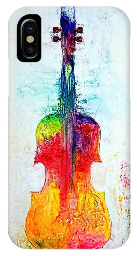 Music IPhone X Case featuring the mixed media Beyond the Strings by Ivan Guaderrama