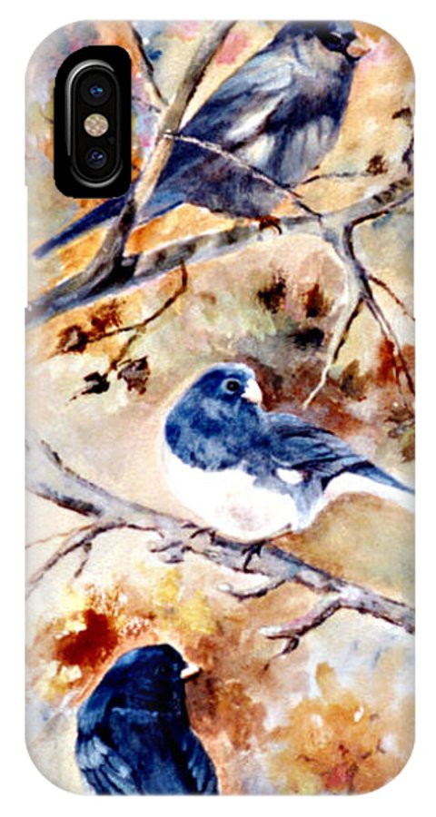 Animals IPhone Case featuring the painting Birds Of Different Feathers by Jimmie Trotter