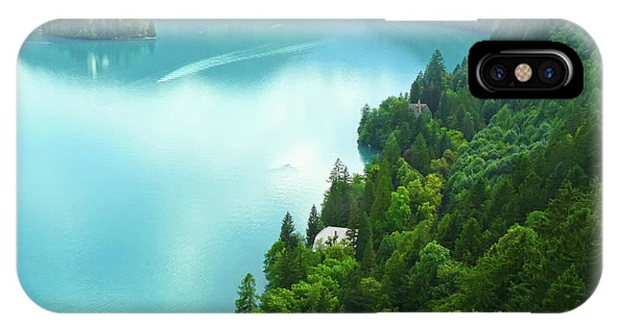 Island IPhone X Case featuring the photograph Bled by Daniel Csoka