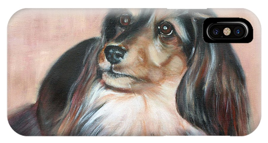 IPhone X Case featuring the painting Bonnie by Fiona Jack