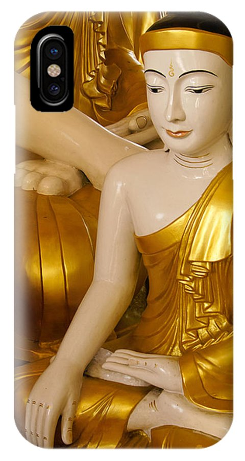 Buddha IPhone X Case featuring the photograph Buddhas In Burma by Michele Burgess