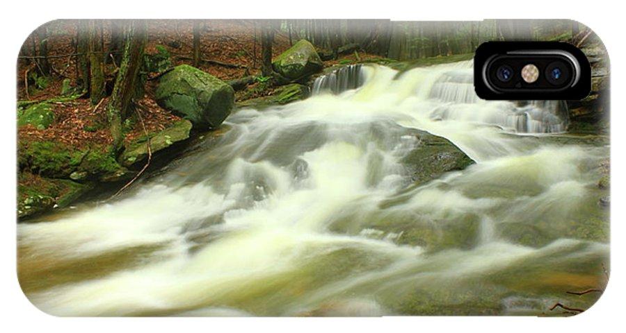 Buffam Brook IPhone X Case featuring the photograph Buffam Brook Cascades by John Burk