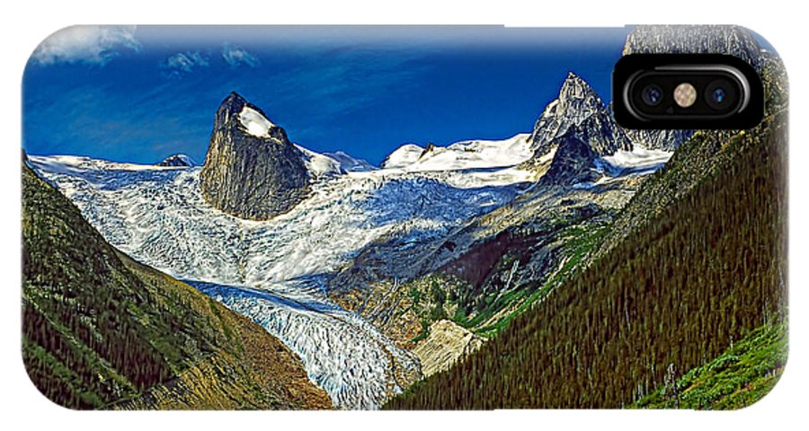 Mountains IPhone X Case featuring the photograph Bugaboo Spires by Steve Harrington