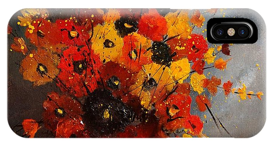 Flowers IPhone X / XS Case featuring the painting Bunch 0708 by Pol Ledent