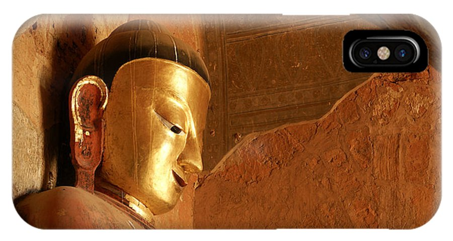 Buddha IPhone X Case featuring the photograph Burmese Buddha by Michele Burgess